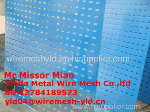 PVC coated perforated metal fences