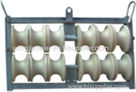 MC nylon cable deconcentrator pulley block