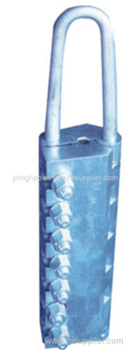 Bolt type anti-twist wirerope grip come along clamp