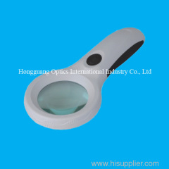 4x hand-held magnifier with 8 pcs led lamps and UV lamp