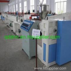plastic pipe extrusion in machine