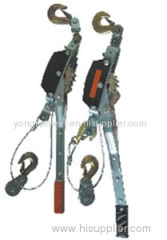 ratchet hand wrenching chain hoist