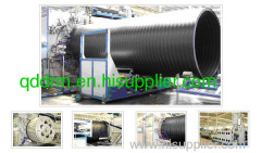 PE winding pipe production line/plastic pipe making machine
