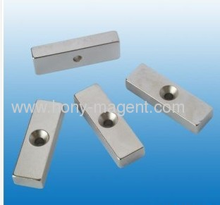 sintered nefeb block magnet with centre hole