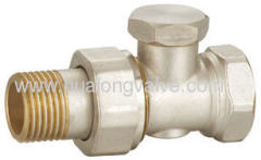 Brass straight lockshield rediator valve