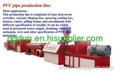 PVC pipe production line/PVC pipe making unit