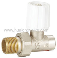 forged brass straight Radiator Valve