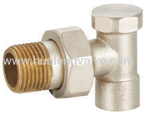 brass straight Radiator Valves