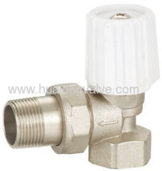 White handle Angle Radiator valve