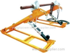 Maximum work torque 2500N.m conductor drum stand reel stands