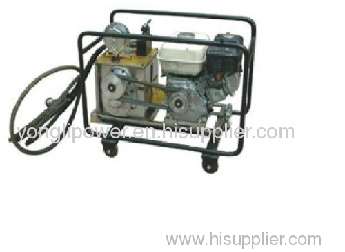 75mpa Superhigh pressure hydraulic pump station power pack with diesel gaoline electric engine optional