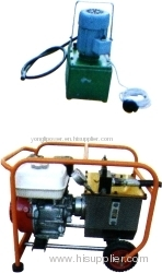 Double -speed electric superhigh pressure hydraulic pump station power pack withe honda gasoline engine