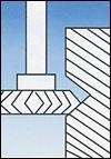 Rotary Carbide Burrs disc type with 90 angle edge