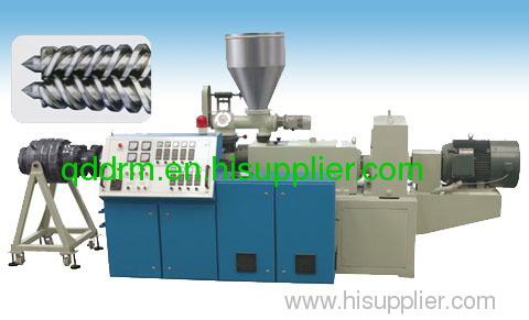 Conical Twin-Screw Extruder/plastic screw extruder