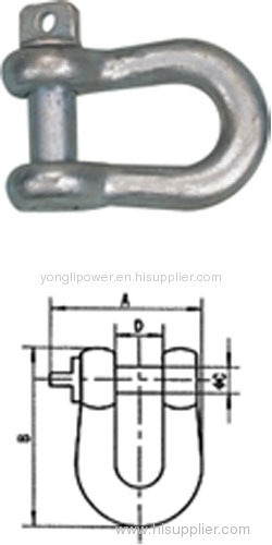 10-300kn High tensile wire connector D shackles