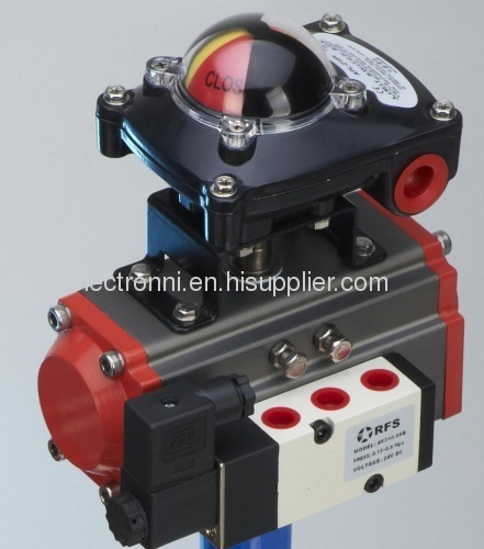 pneumatic actuator with limit switch box and solenoid valve