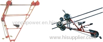 1-1.5kn Two -conductor bundle line cart overhead power line aerial spacer trolley cart