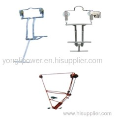 1kn aluminium alloy Single conductor line cart inspection trolleys