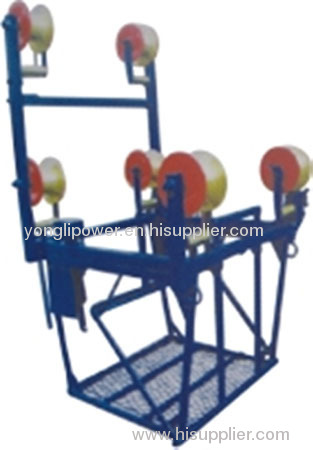 4 bundled conductor trolly cart for overhead line operation