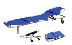 Swivel Wheeled Stretcher with backrest