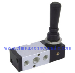 Pneumatic hand control valve