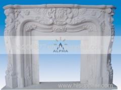 stone fireplace mantel