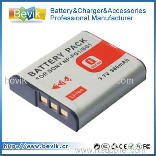 NP-BG1 Battery for Sony NP-FG1 Cybershot DSC-W120 H10