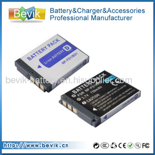 For Sony CyberShot Camera NP-BD1 NP-FD1 Type D Battery