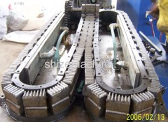 PVC single wall corrugated pipe extrusion line