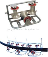 10KN tri-roller assembly corner ground roller pulley block