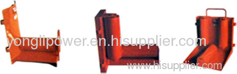 Steel wheel cable ground corner roller pulley block