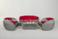 grey rattan sofa set