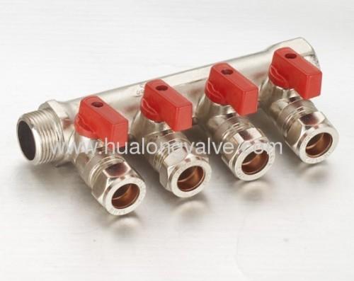 brass manifold valve 4-way comp