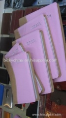 Faux leather cover promotional note pad/diary