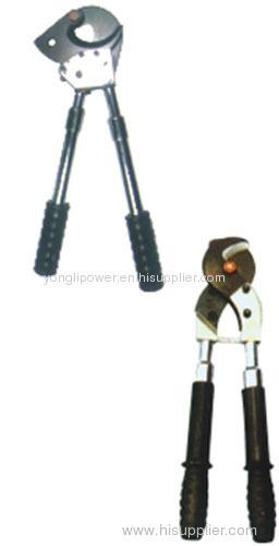 Insulated flexible handle ratchet cable scissors