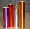 Various metallic colours of packing paper
