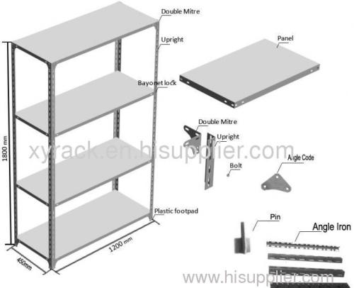light duty of slotted angle rack