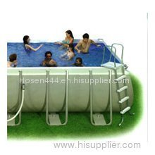 Intex Ultra Frame Swimming Pool - 24ft x 12ft x 52in - 1600gph Fltr/Sltwtr Sys 54979EG