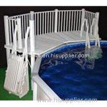 Blue Wave Resin 5' x 13' Pool Deck w/ Ladders