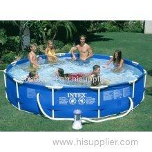 Calsplash Intex Frame Set 12 Ft x 30 in Pool with Pump