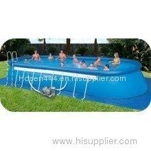 Intex 12' x 28' x 48 Ellipse Oval Frame Pool Complete Pool Set