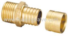 brass pex fittingmale