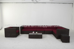 outdoor furniture PE rattan sofa sets