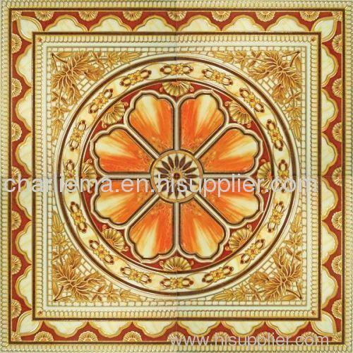 Golden decor tile