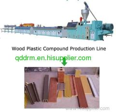 Wood plastic profile extrusion line/profile production line