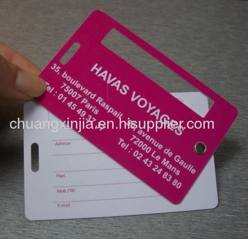 ISO Approved Plastic Baggage Tag