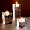 Crystal rectangular candle holder