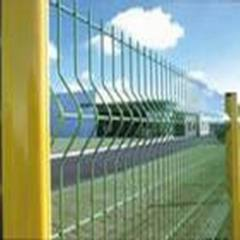 PVC coated wire mesh fence panels