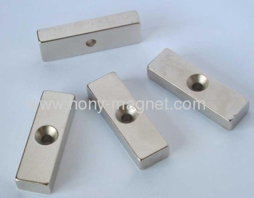 N35 block NDFEB magnet with hole