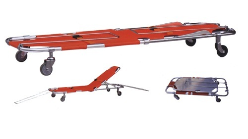 Stretcher With Pull Along Handle Adjustable Back Rest
